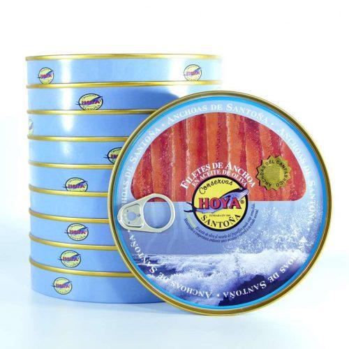 Oportunidad 10 panderetas de anchoas Hoya en aceite de oliva