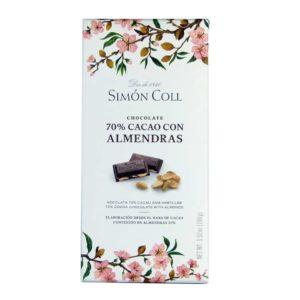 Chocolate Simon coll 70% cacao con almedras