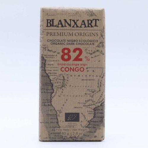 Comprar chocolate online blanxart 82% cacao forastero Congo