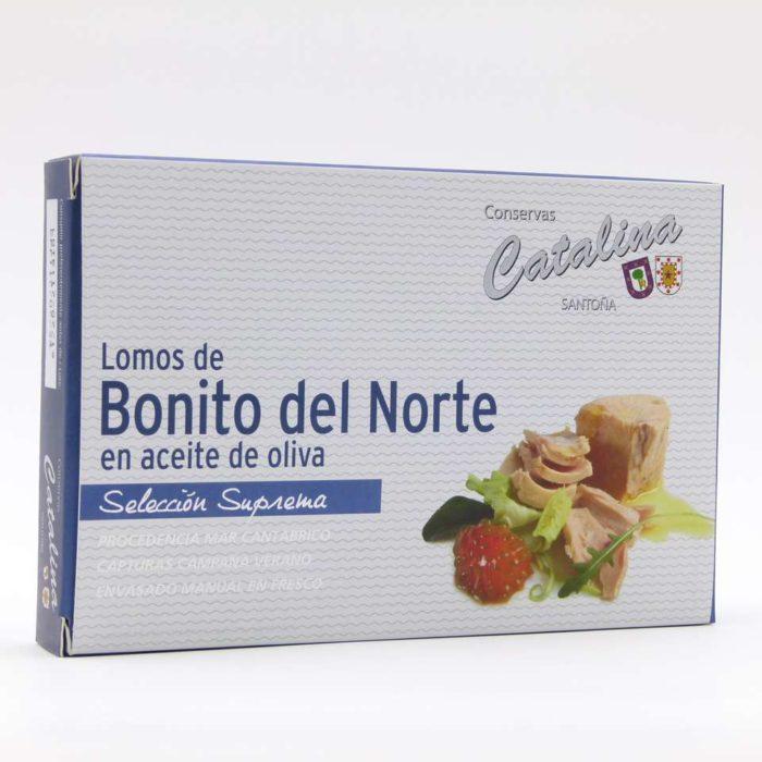 Comprar lomos de bonito del norte en aceite de oliva Conservas Catalina