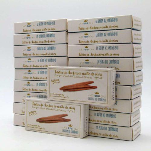 OPORTUNIDAD 20 latas de Anchoas de Santoña La Reina del Cantábrico lata de 48 gramos en aceite de oliva
