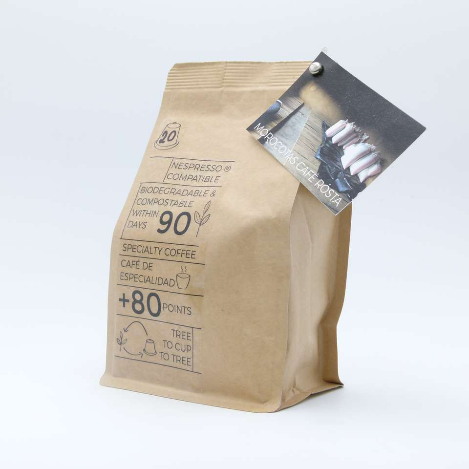 Cafe gourmet de origen en cápsulas biodegradables compatible Nespresso