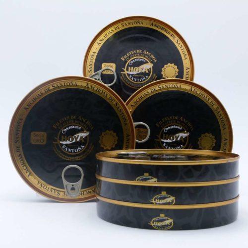 Oportunidad 6 paneretas anchoas Hoya serie oro Cantábrico