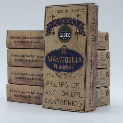 Oferta 5 latas de anchoas gourmet Revilla en mantequilla octavillo