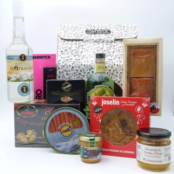 Estuche gourmet de productos de Cantabria 2019
