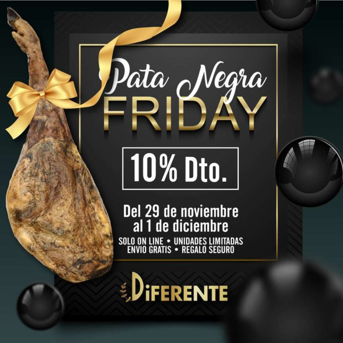 Oferta en jamones ibericos pata negra friday