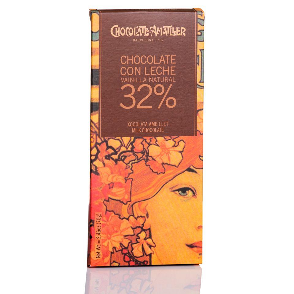 Chocolate Amatller con leche origen Ghana