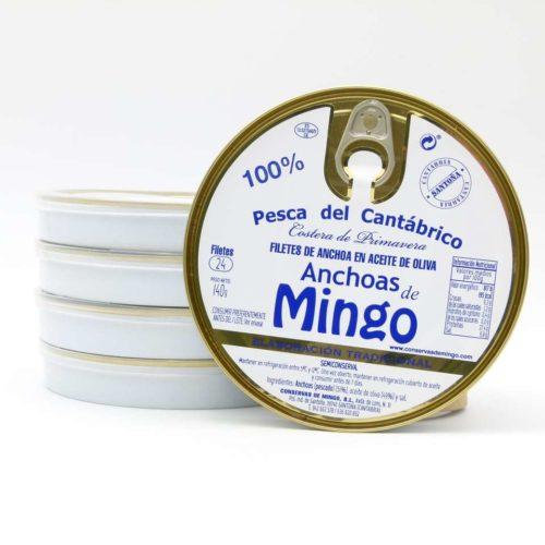 Promoción anchoas conservas Mingo 5 panderetas