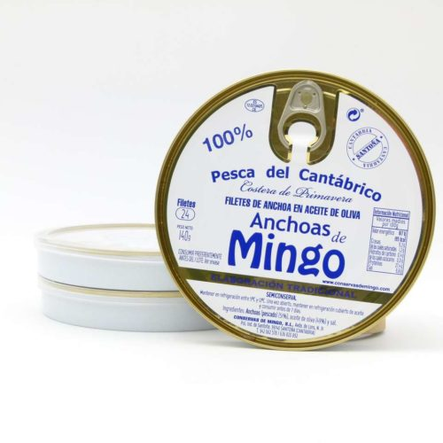 OFERTA 3 panderetas de anchoas Conservas Mingo