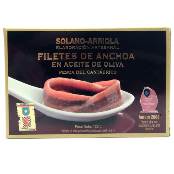 Anchoas Solano Arriola Hansa 10-12 filetes