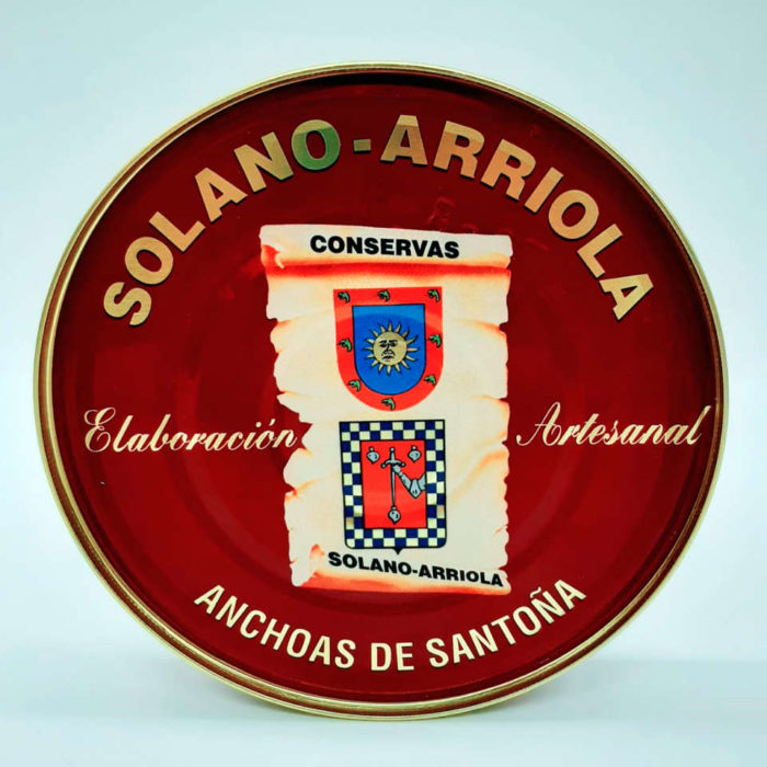 Comprar Anchoas Solano Arriola pandereta 28-30 filetes 180 grs