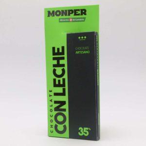 Chocolate con leche Monper 35% cacao tableta 85 grs