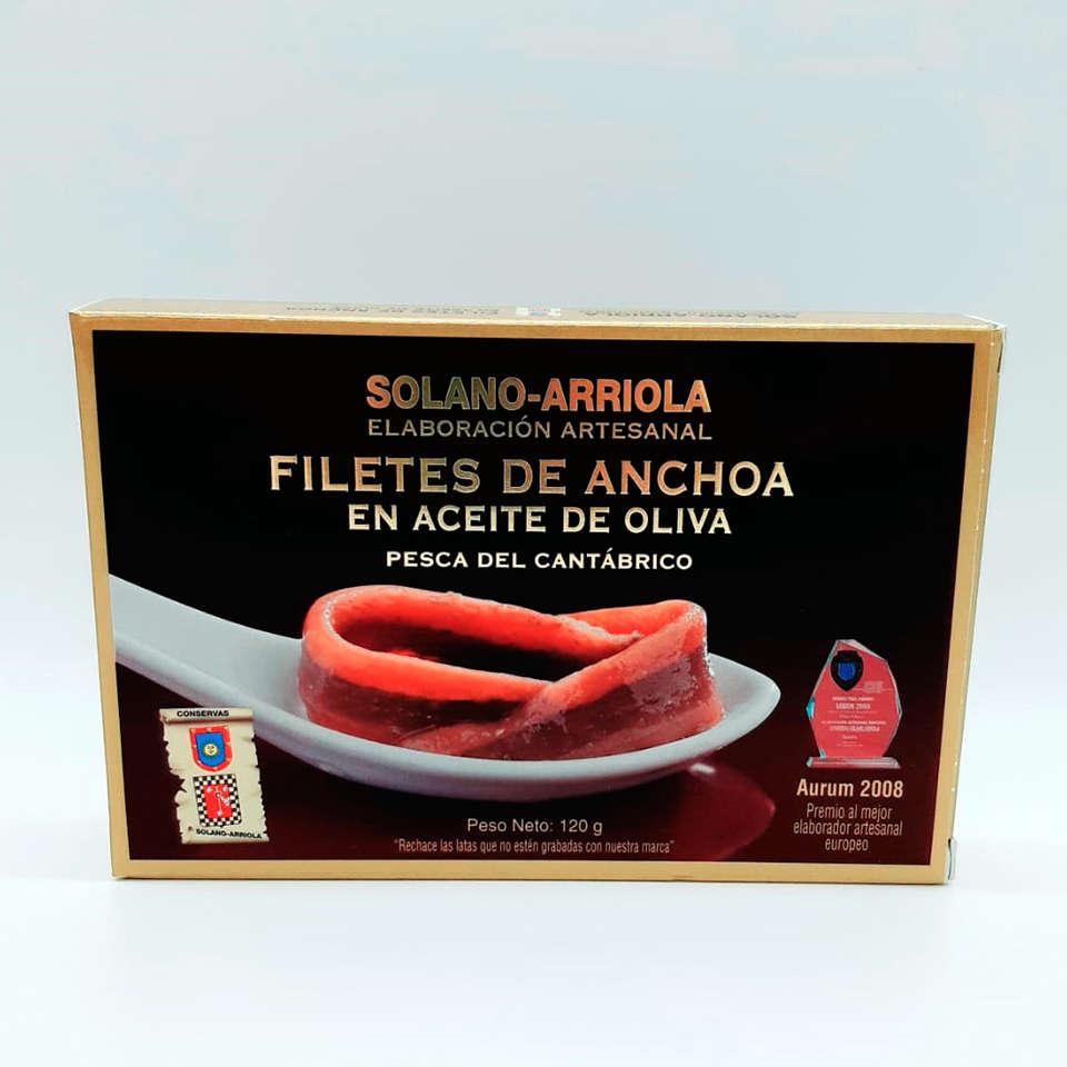 Compra online anchoas Solano Arriola Hansa 10-12 filetes