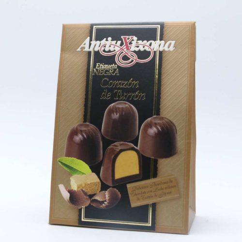 Comprar oferta Bombones de chocolate rellenos de turrón Antiu Xixona 150 grs