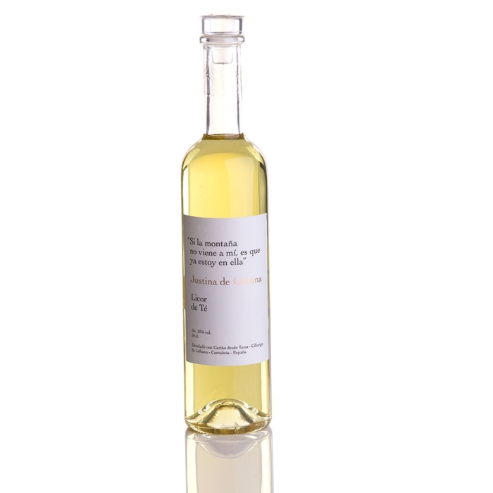 Comprar licor de orujo con te justina de liebana online
