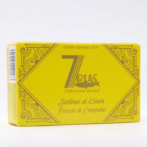 Sardinas al limón conservas gourmet 7 rias