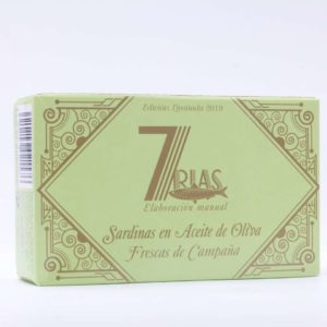 Sardinas en aceite de oliva conservas gourmet 7 rias