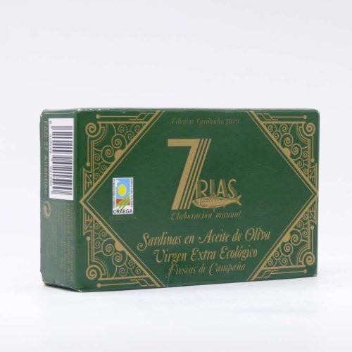 Sardinas gallegas en aceite de oliva virgen extra ecológico 7 rias