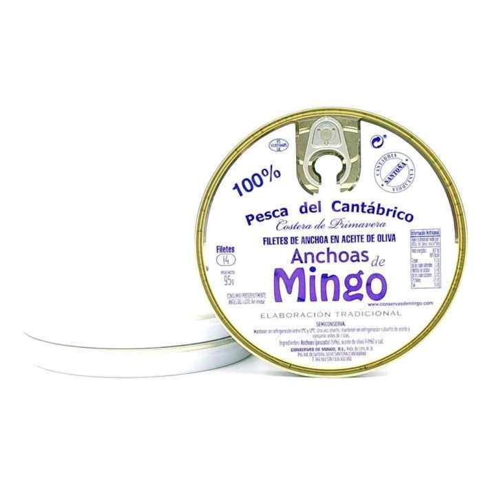 Oferta 3 panderetas de anchoas Mingo 14 filetes