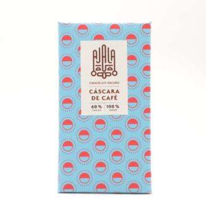 Chocolate Ajala 60% cacao con cáscara de café tableta de 45 grs