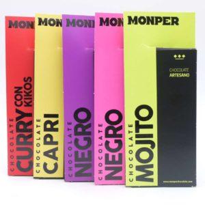 Pack ahorro 5 sabores chocolates Monper