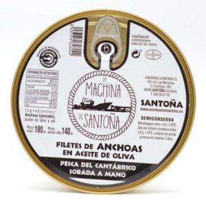 Pandereta de 24 filetes anchoas La Machina de Santoña