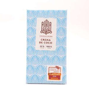 Tableta de chocolate Ajala crema de coco 55% cacao 45 grs
