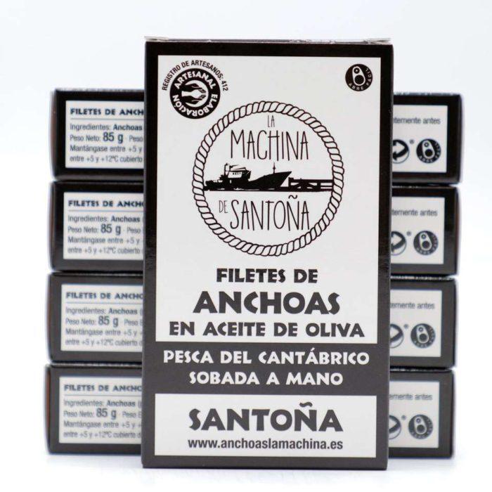 PROMO 5 latas de 90 grs anchoas la Machina