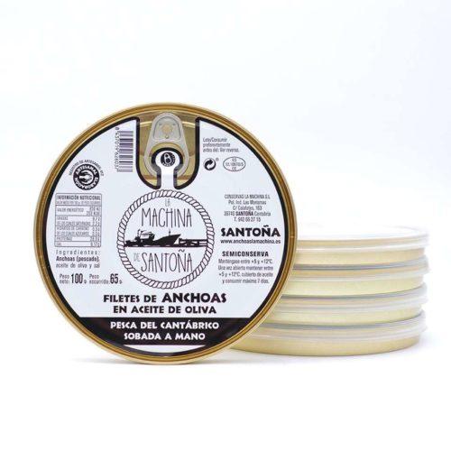 OPORTUNIDAD 5 Panderetas de 24 filetes anchoas La Machina