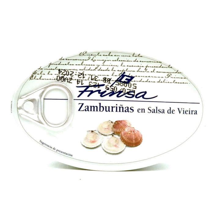 Comprar lata de Zamburiñas en salsa de vieira conservas Frinsa