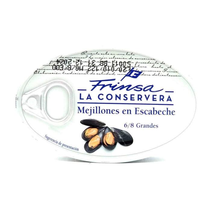 Comprar Mejillones en escabeche Frinsa 6/8 piezas