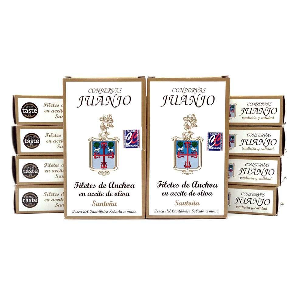 CHOLLO 10 latas de Anchoas Juanjo