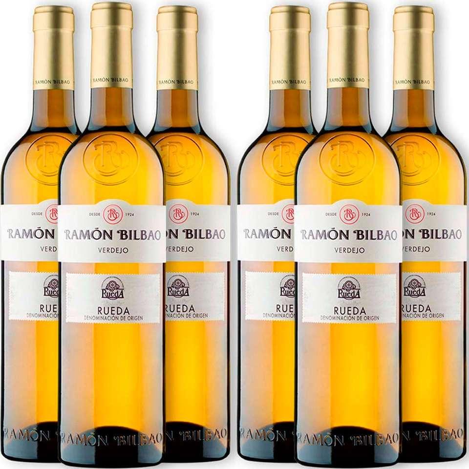Oferta 6 botellas de vino Blanco Ramón Bilbao Verdejo