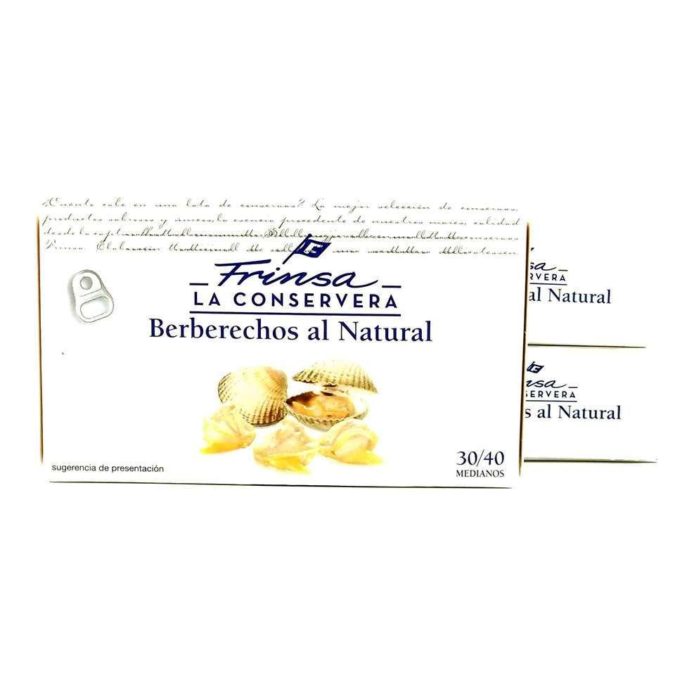 3 latas de berberechos conservas Frinsa 30/40 piezas