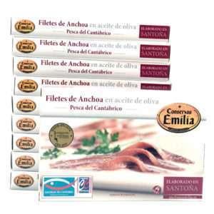 【PROMOCIÓN】10 latas de anchoas Emilia de 10-12 filetes