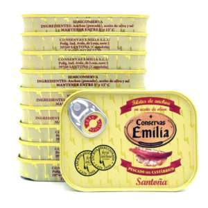 Chollo 10 latas de anchoas Emilia 78 grs