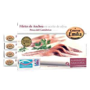 OFERTA 5 latas de anchoas Emilia de 10-12 filetes
