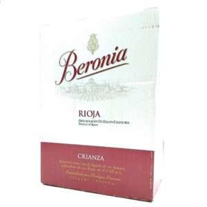 Caja de 6 botellas de Beronia crianza tinto