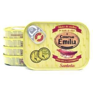 Oferta 5 latas de anchoas Emilia 78 grs