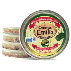 Promoción anchoas Emilia 5 latas grandes 180 grs