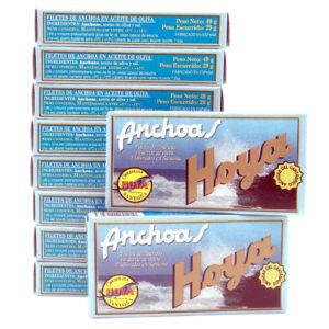 oferta 10 octavillos de anchoas conservas hoya