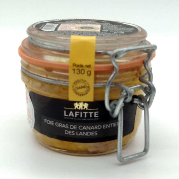 foie gras de canard entier lafitte gourmet 130 grs