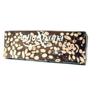 Tableta de turrón de chocolate y almendras artesano 500 grs Antiu Xixona