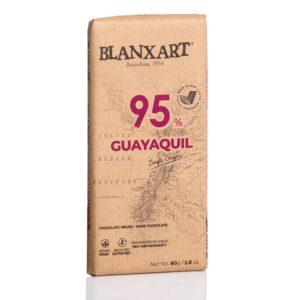 Chocolate Blanxart 95% cacao Nacional Guayaquil 80 grs