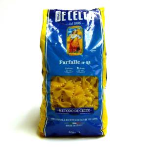 Pasta italiana De Cecco Farfalle n 93