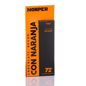 Tableta de chocolate con Naranja Monper 72 cacao al mejor precio