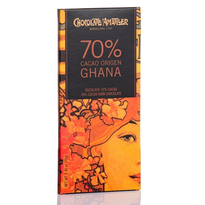 Tableta de Amatller chocolates 70% cacao origen Ghana online