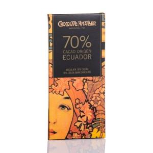 Comprar Tableta de chocolate Amatller 70% cacao Ecuador 70 grs