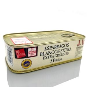 Espárragos blancos de Navarra Joaquín Vela 5 frutos