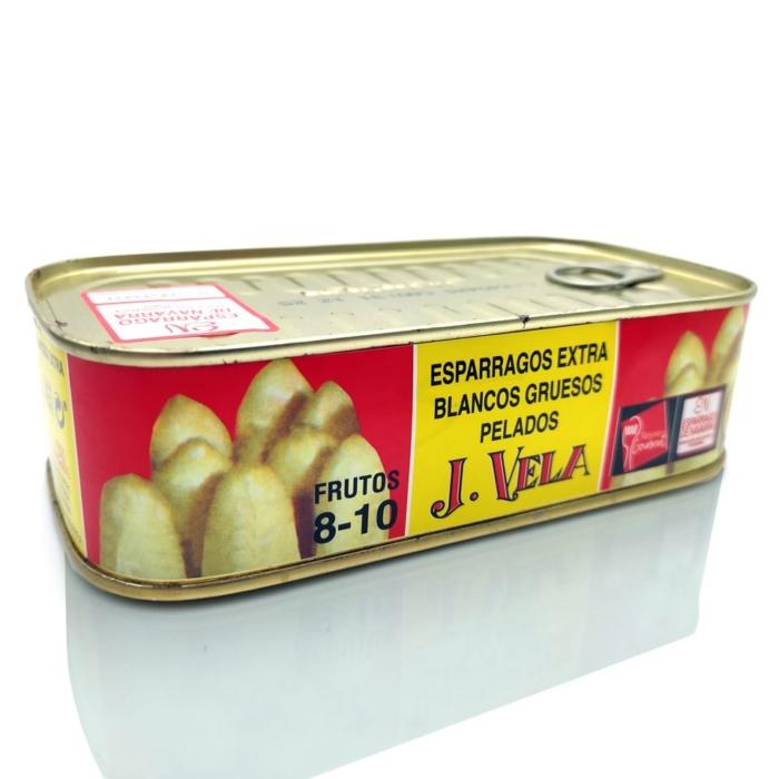 Espárragos extra blancos gruesos conservas J Vela 8-10 frutos a domicilio